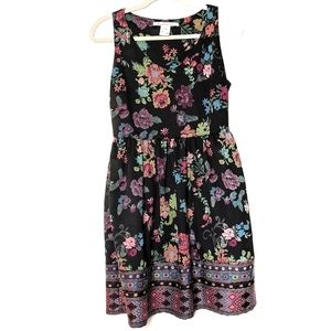 American Rag sleeveless floral print dress. Med